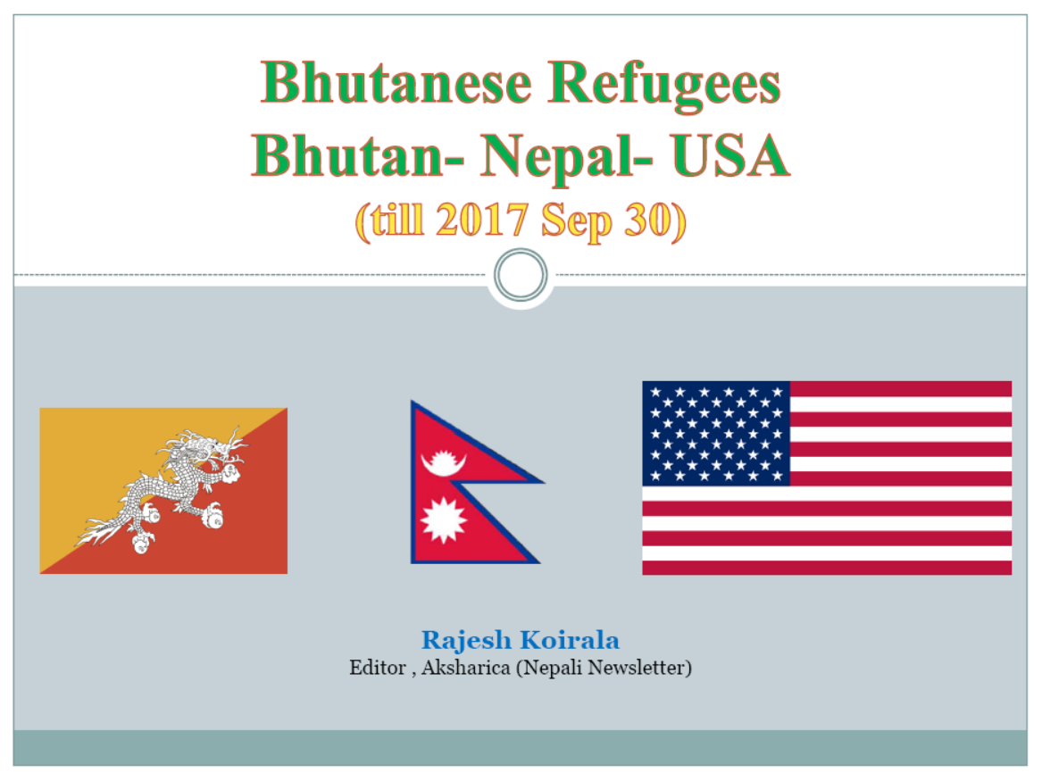 Bhutanese refugees in the US: 2008 – 2017 (slides)